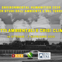 Environmental Humanities 2020 – Master studi dell'Ambiente e del Territorio